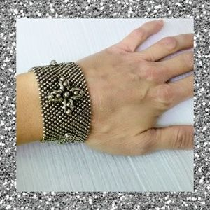 Hand made silver stud bracelet